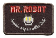 Mr. Robot Patch fsociety (Special Black) (10cm x 6.5cm) (2 Sizes Available)