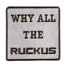 "Honda Ruckus ""Why All The Ruckus"" Patch 9cm x 9cm"