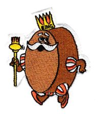 Cool Vintage Style King Character Patch 8cm Applique