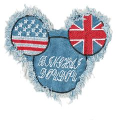 Mickey Mouse USA UK Patch Denim XL 17cm