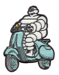 Vintage Style Michelin Vespa Scooter Patch 7.5cm (More Colors Inside)