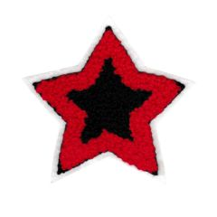 Large Red and Navy Star Chenille Patch (10cm)