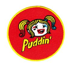 "Cute Harley Quinn Patch ""Puddin"" 8cm"
