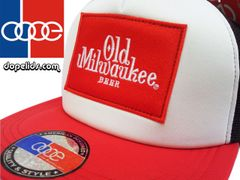 smartpatches Old Milwaukee Trucker Hat (Red, White and Black)