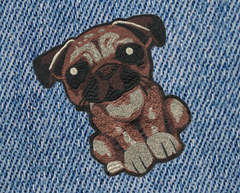 XXL Large Cute 23cm Bulldog Puppy Dog Patch Applique