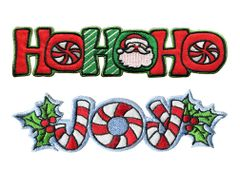 Christmas Patch Holiday Patches Badge Santa Ho Ho Ho Joy 15cm 13cm