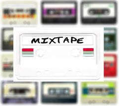 Clear Mixtape Patch DJ PVC Rubber 10cm