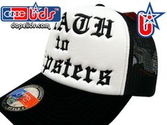 smart-patches DEATH TO HIPSTERS Trucker Hat (Black/White)