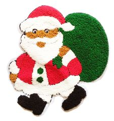 Santa Claus Patch Christmas Patch Extra Large XXL 26cm