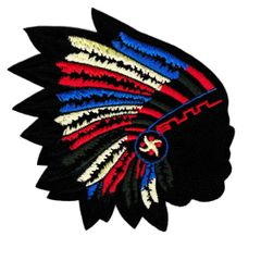 Indian Skull Head Chief Patch 11cm Applique