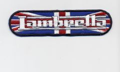 Vintage Style Lambretta Patch UK Union Jack Flag 12cm