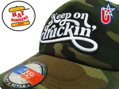 smARTpatches Truckers Keep on Truckin Trucker Hat Curved Bill (Camo)