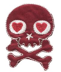 Skull Patch Cute Girls 7cm