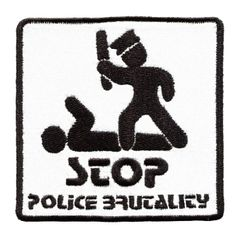 Stop Police Brutality Patch 8cm