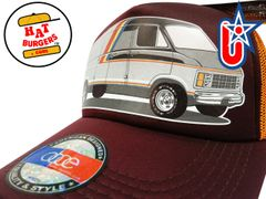 smARTpatches Truckers 70's Custom Van Trucker Hat (Orange & Cinnamon)