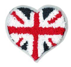 Union Jack Patch Heart 8.5cm