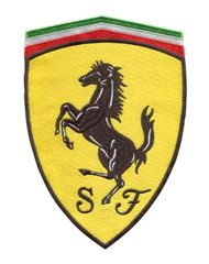 Ferrari XXL Shield Patch 20cm x 14.5cm