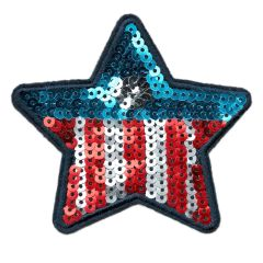 USA Star Patch Sequins 9cm