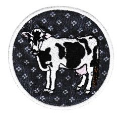 Cute Vintage Farm Cow Patch 7.5cm Emoji Applique
