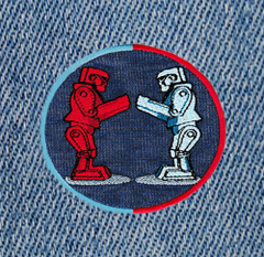 Cool Boxing Robots Patch 9cm Applique