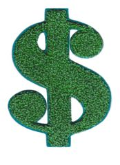 Cool Dollar Patch Sign Symbol Patch XL Extra Large 12.5cm Applique