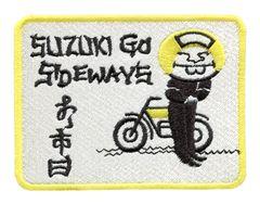 Vintage Style Suzuki Motorcycle Dirt Bike Patch 10cm x 7.5cm