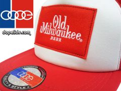 smartpatches Old Milwaukee Trucker Hat (Red and White)