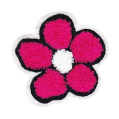 Cute Chenille Flower Patch 10.5cm