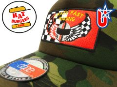 "smARTpatches Truckers ""Crazy Fast Racing"" Vintage Trucker Hat"