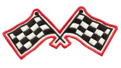 Checkered Flag Racing Patch 11cm