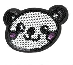 Panda Bear Patch Sequins 8.5cm