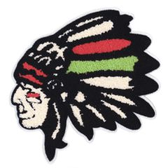 Chenille Indian Head Patch XL 21cm