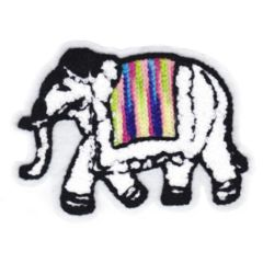 Elephant Patch Chenille 12cm