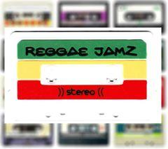 Reggae Jamz Rasta Mixtape Patch DJ PVC Rubber 10cm