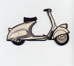 "Vintage Style ""MP6"" Vespa Scooter Patch 13cm"