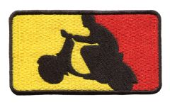 German Scooter Scooterboy Silhouette Patch 9.5cm x 5.5cm