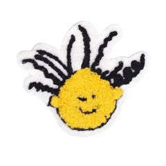 Cool Smiley Face Patch Chenille Smile Patch Badge 9.5cm