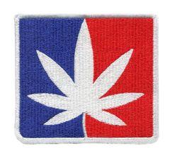 Weed Pot Marijuana USA Silhouette Patch 8.5cm x 8.5cm