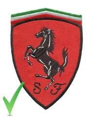 Ferrari XL Patch Red and Black 16.5cm x 12cm