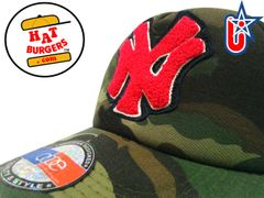 smARTpatches Truckers Chenille NY New York Trucker Hat Curved Bill (Camo)