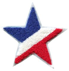 Chenille Star Patch American French (13cm)