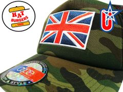 smartpatches Truckers British Flag Union Jack Trucker Hat Curved Bill (Camo)
