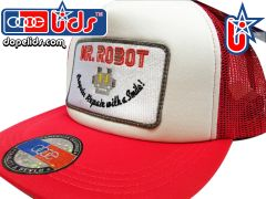 smart-patches Mr. Robot Trucker Hat (Red/White)