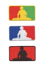 DJ Silhouette Patch 9.5cm x 5.5cm (3 Colors Inside)