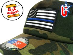 smARTpatches Truckers BLM Blue LIves Matter Trucker Hat Curved Bill (Camo)