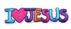I Love Jesus Patch Vintage 70's Style13cm