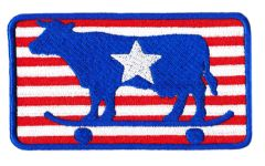USA Skater Cow Skater Patch 10cm x 6.5cm (One Star)