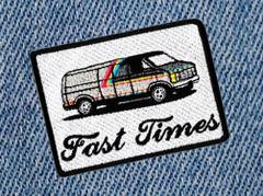 Fast Times Vintage 70's Custom Van Shaggin' Wagon Patch 8.5cm