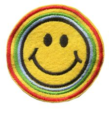 Smiley Face Patch Vintage Style Smile Patch Badge 7cm
