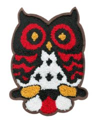 Adorable & Cute Chenille Owl Patch XL Extra Large 18cm Applique